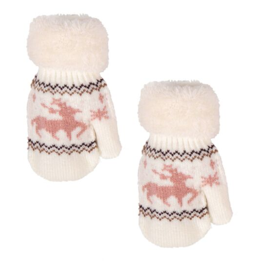 White Children's Mittens