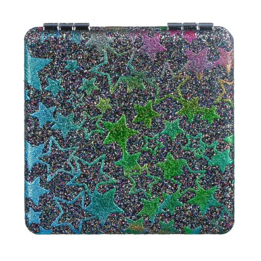 Colourful Stars Glitter Compact Mirror