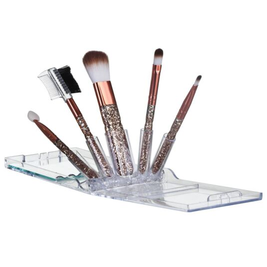 Copper and Gold Make Up Brush Set