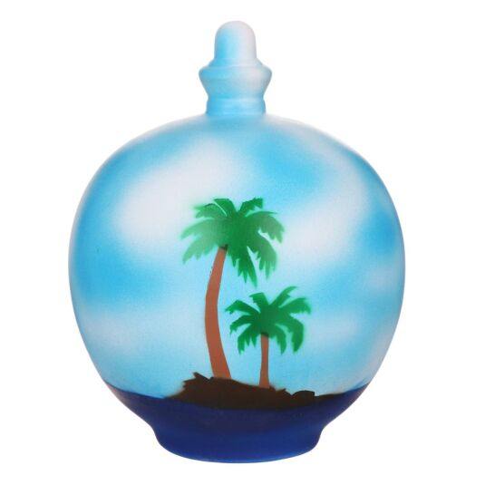Island Scene Money Pot