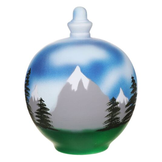 Mountain Scene Money Pot