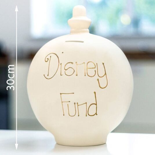 'Disney Fund' Gold on Cream Large Money Pot
