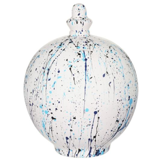 Extra Large Black & Blue Splatter Money Pot