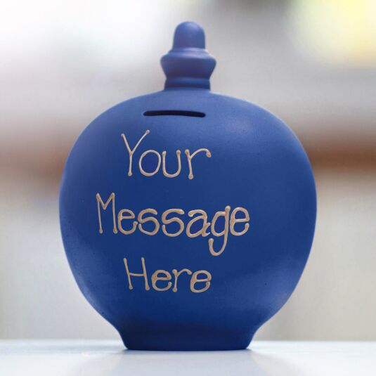 Personalisable Dark Blue Small Money Pot
