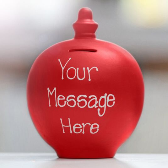 Personalisable Red Small Money Pot