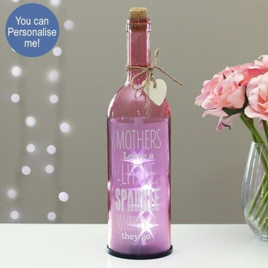 'Mothers Leave A Little Sparkle' Light Up LED Bottle
