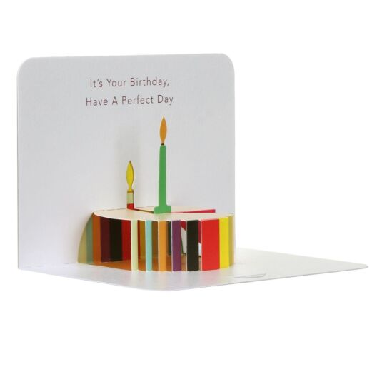 Cake Happy Birthday 3D Card
