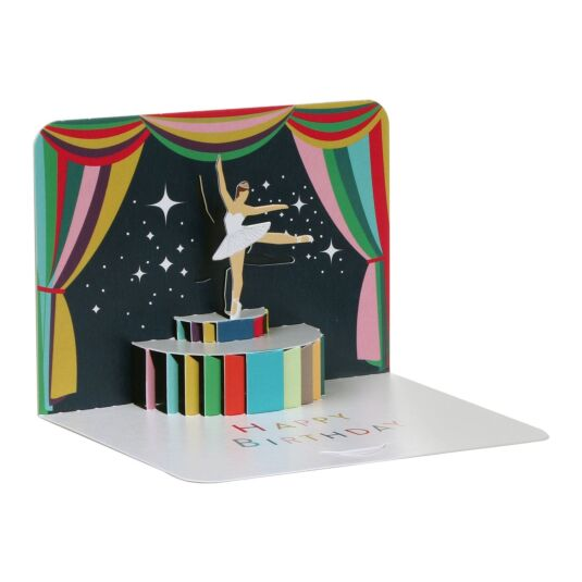 Ballerina Happy Birthday 3D Card