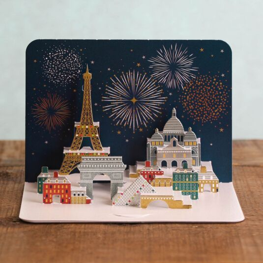 Celebrations Over Paris 3D Card