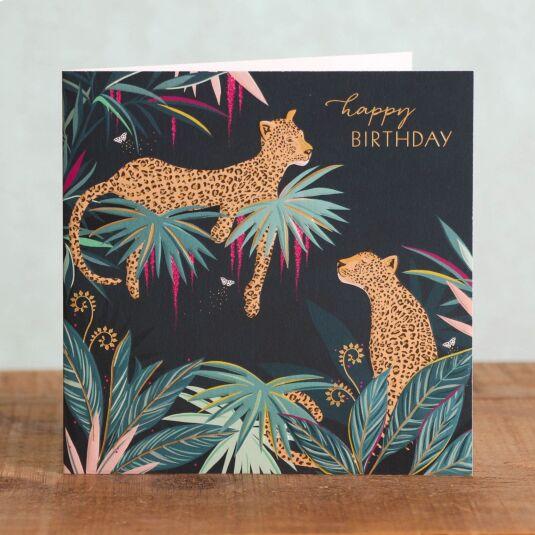 Leopards Birthday Card