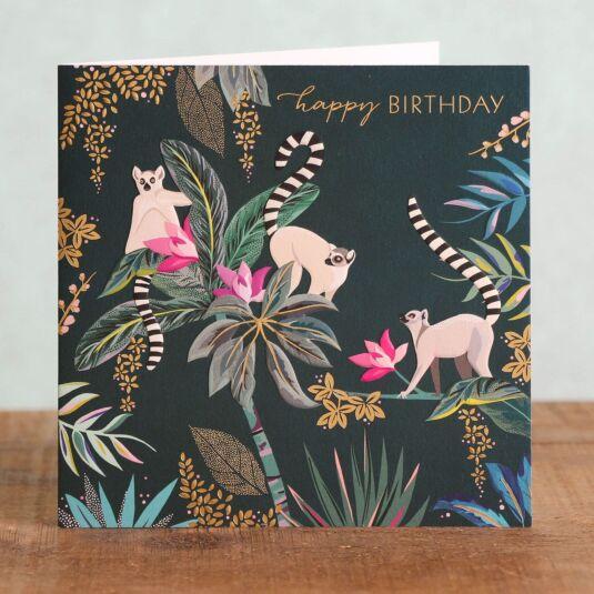 Lemurs Birthday Card