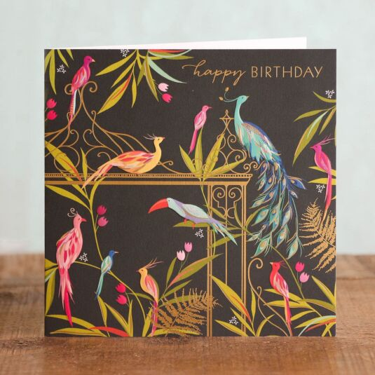 Tropical Birds Birthday Card