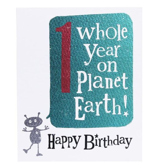 '1 Whole Year' Birthday Card