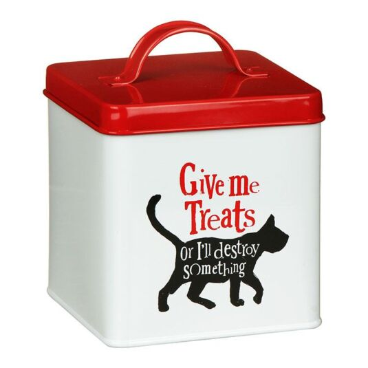 """Give Me Treats"" Cat Treats Tin"