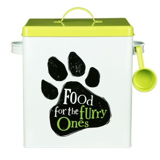 """Furry Ones"" Dog Food Tin"