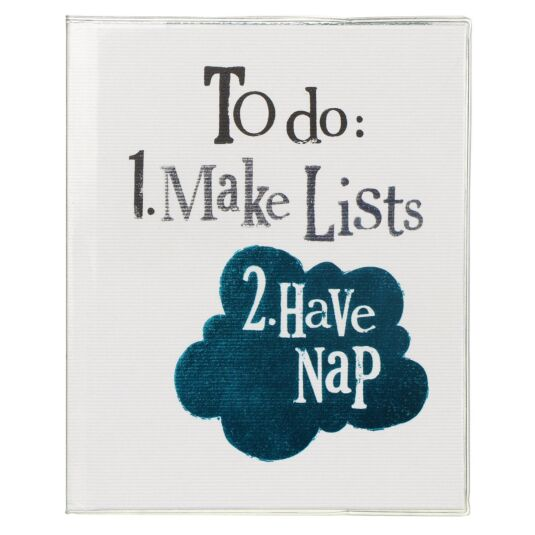 'To do: Make Lists. Have Nap' Notebook