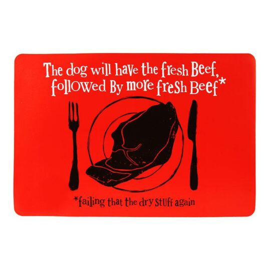 """Fresh Beef"" Dog Food Mat"