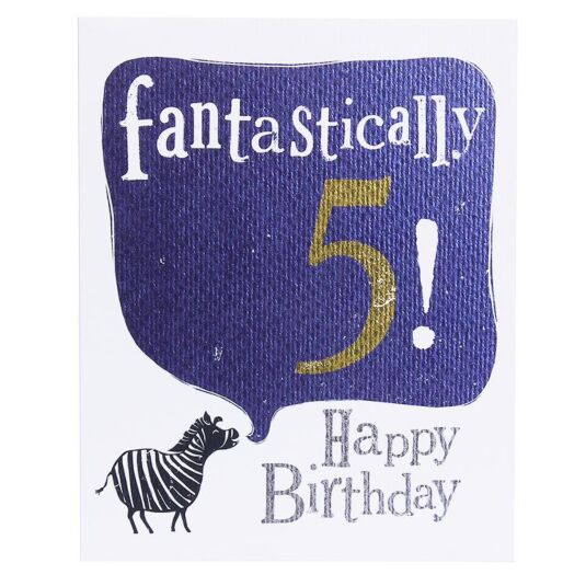 'Fantastically 5' Birthday Card