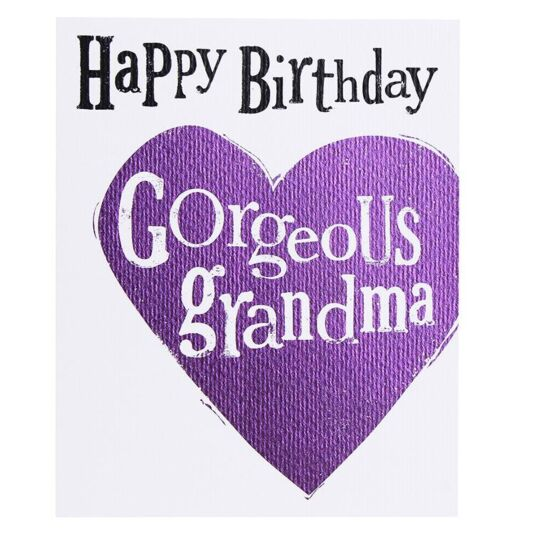 'Gorgeous Grandma' Birthday Card
