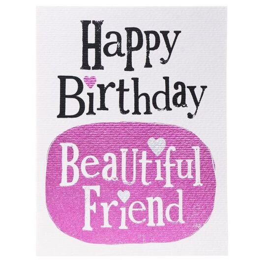 Happy Birthday Beautiful Friend Card