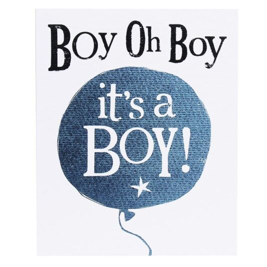 'Boy Oh Boy It's A Boy!' Card