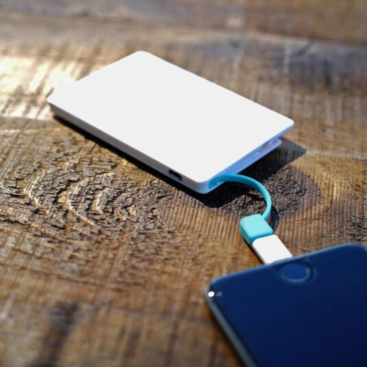 Credit Card Rechargeable Power Bank for Smartphones