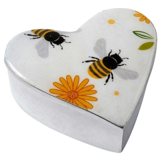 Busy Bees Heart Box