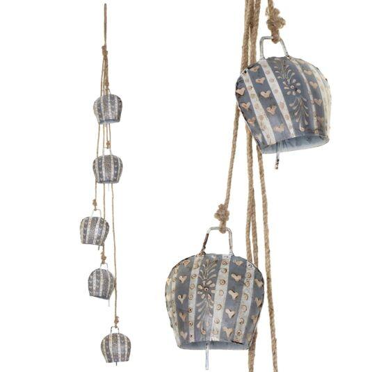 String of Five Lucerne Cow Bells