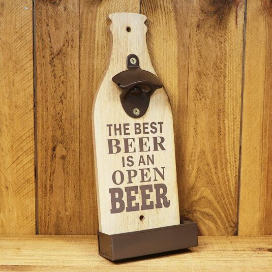 'The Best Beer' Bottle Opener Sign