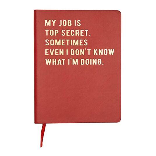 Cloud Nine 'My Job Is Top Secret' A6 Lined Notebook