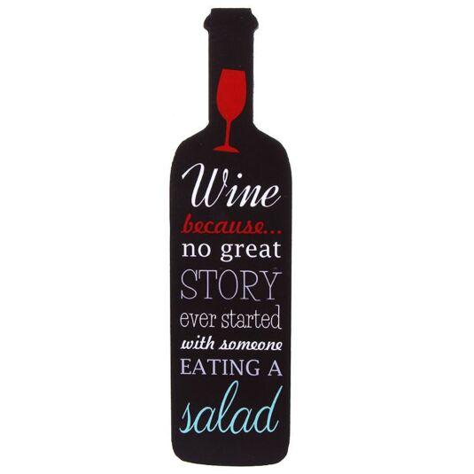 Eating A Salad Wine Bottle Sign