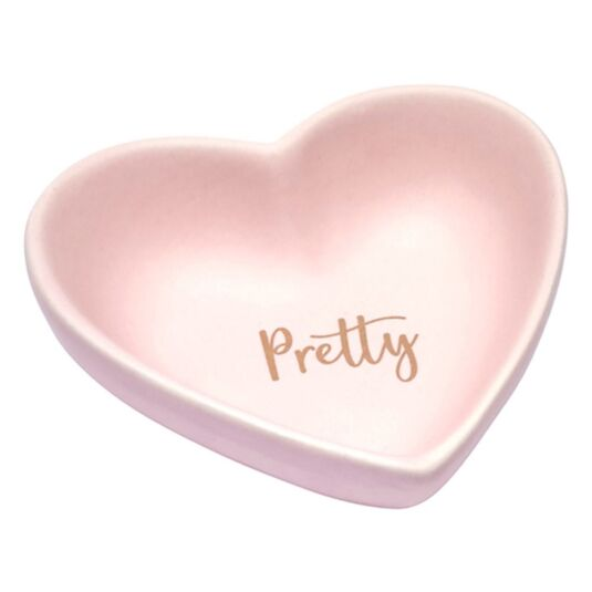 Elise Heart Shaped Sentiment Dish 'Pretty'