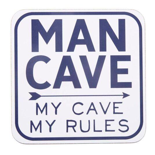 'Man Cave' Coaster