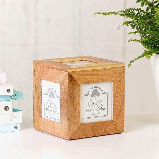 "Oak 2.5"" x 2.5"" Photo Cube"