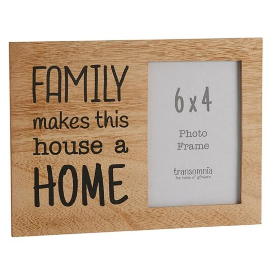Family Saying 'Home' 6 x 4 Photo Frame