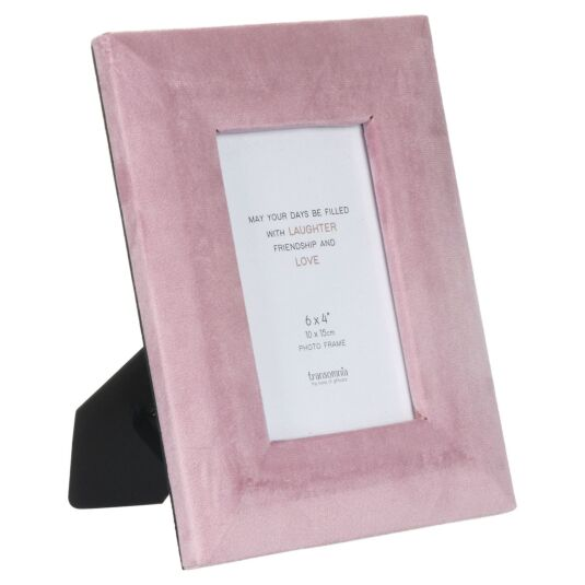 Blush Pink Velvet 6x4 Photo Frame