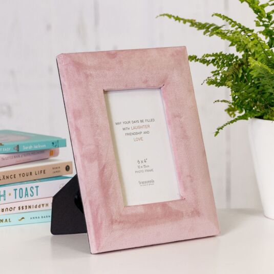 Blush Pink Velvet 6x4 Photo Frame