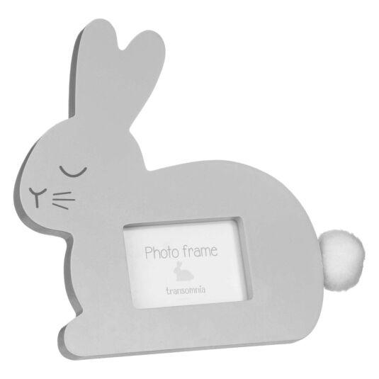 "Pompom Tail Bunny 3""x2"" Photo Frame"