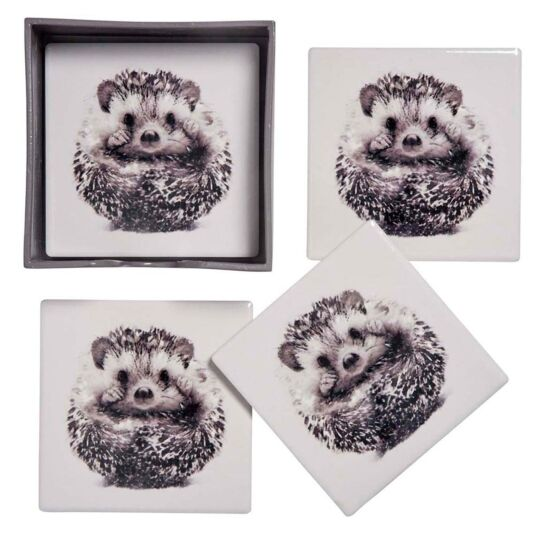 Set of 4 Hedgehog Coasters