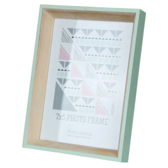 Helsingborg 7x5 Wooden Painted Green Photo Frame