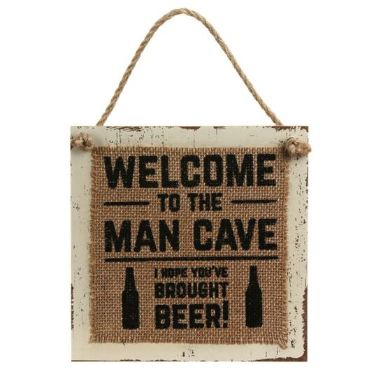 Hessian 'Man Cave' Sign