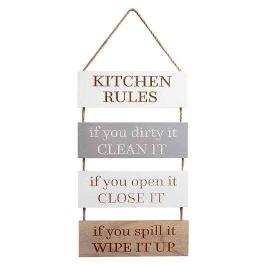 'Kitchen Rules' Sign