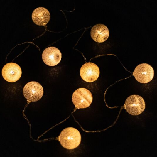 LED Cotton Ball String Lights