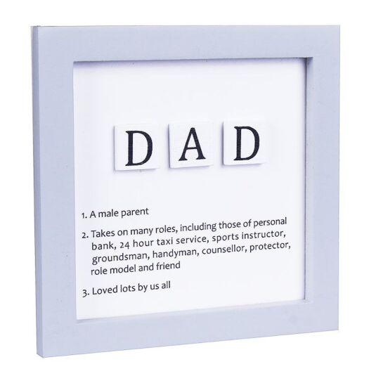 'Dad' Tiled Definition Wooden Sign