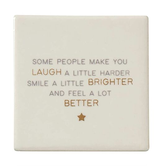 Lily Loves 'Laugh a Little Harder' Friendship Coaster