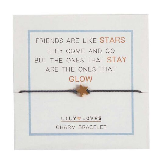 Lily Loves 'Friends Are Like Stars' Charm Bracelet