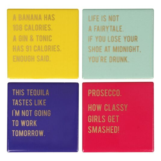 Cloud Nine Ceramic Coasters – Set of 4