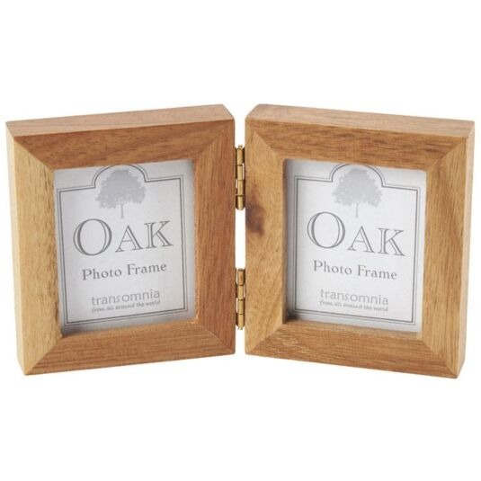 Oak Twin Folding Mini Frame