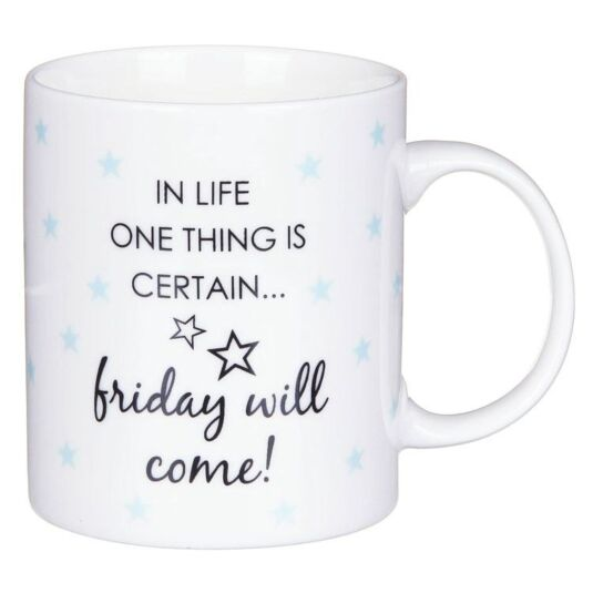 Office Humour Friday Will Come Mug