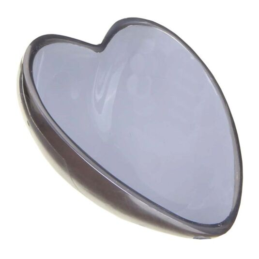 Orvieto Enamelled Aluminium Heart Shaped Bowl Grey